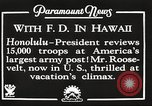 Image of Franklin Roosevelt Pearl Harbor Hawaii USA, 1934, second 8 stock footage video 65675066039