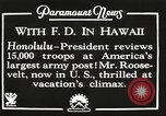 Image of Franklin Roosevelt Pearl Harbor Hawaii USA, 1934, second 9 stock footage video 65675066039