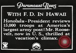 Image of Franklin Roosevelt Pearl Harbor Hawaii USA, 1934, second 10 stock footage video 65675066039