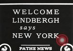 Image of Charles Lindbergh New York United States USA, 1927, second 8 stock footage video 65675066045
