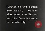 Image of British and French soldier advancing France, 1916, second 1 stock footage video 65675066050