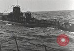 Image of German U boat Atlantic Ocean, 1918, second 7 stock footage video 65675066069