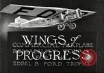 Image of aircraft reliability tour Dearborn Michigan USA, 1925, second 6 stock footage video 65675066082