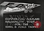 Image of aircraft reliability tour Dearborn Michigan USA, 1925, second 7 stock footage video 65675066082