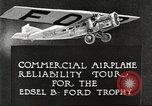 Image of aircraft reliability tour Dearborn Michigan USA, 1925, second 8 stock footage video 65675066082