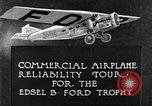 Image of aircraft reliability tour Dearborn Michigan USA, 1925, second 9 stock footage video 65675066082