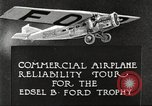 Image of aircraft reliability tour Dearborn Michigan USA, 1925, second 10 stock footage video 65675066082