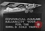 Image of aircraft reliability tour Dearborn Michigan USA, 1925, second 12 stock footage video 65675066082