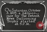 Image of balloon race Detroit Michigan USA, 1925, second 3 stock footage video 65675066084