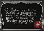 Image of balloon race Detroit Michigan USA, 1925, second 5 stock footage video 65675066084