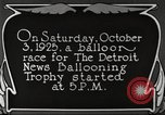 Image of balloon race Detroit Michigan USA, 1925, second 7 stock footage video 65675066084