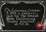Image of balloon race Detroit Michigan USA, 1925, second 9 stock footage video 65675066084