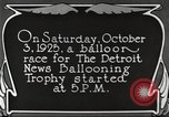 Image of balloon race Detroit Michigan USA, 1925, second 12 stock footage video 65675066084