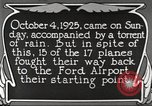 Image of Ford aircraft Dearborn Michigan USA, 1925, second 2 stock footage video 65675066085