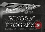 Image of Airplane Reliability Tour Dearborn Michigan USA, 1925, second 4 stock footage video 65675066194