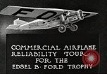 Image of Airplane Reliability Tour Dearborn Michigan USA, 1925, second 6 stock footage video 65675066194