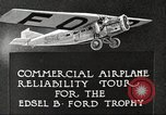 Image of Airplane Reliability Tour Dearborn Michigan USA, 1925, second 8 stock footage video 65675066194