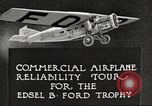 Image of Airplane Reliability Tour Dearborn Michigan USA, 1925, second 10 stock footage video 65675066194