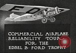 Image of Airplane Reliability Tour Dearborn Michigan USA, 1925, second 11 stock footage video 65675066194