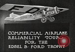 Image of Airplane Reliability Tour Dearborn Michigan USA, 1925, second 12 stock footage video 65675066194