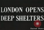 Image of underground shelters London England United Kingdom, 1944, second 4 stock footage video 65675066217