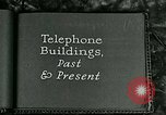 Image of telephone buildings United States USA, 1926, second 2 stock footage video 65675066334