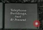 Image of telephone buildings United States USA, 1926, second 6 stock footage video 65675066334