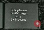 Image of telephone buildings United States USA, 1926, second 7 stock footage video 65675066334