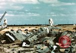 Image of wrecked Italian aircraft Tunis El Aouina Airport, 1943, second 2 stock footage video 65675066351