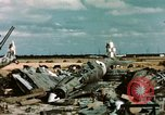 Image of wrecked Italian aircraft Tunis El Aouina Airport, 1943, second 3 stock footage video 65675066351