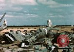 Image of wrecked Italian aircraft Tunis El Aouina Airport, 1943, second 4 stock footage video 65675066351