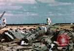 Image of wrecked Italian aircraft Tunis El Aouina Airport, 1943, second 5 stock footage video 65675066351
