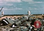 Image of wrecked Italian aircraft Tunis El Aouina Airport, 1943, second 6 stock footage video 65675066351