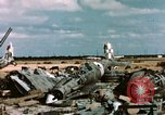 Image of wrecked Italian aircraft Tunis El Aouina Airport, 1943, second 7 stock footage video 65675066351