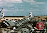 Image of wrecked Italian aircraft Tunis El Aouina Airport, 1943, second 8 stock footage video 65675066351