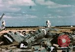 Image of wrecked Italian aircraft Tunis El Aouina Airport, 1943, second 10 stock footage video 65675066351