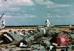 Image of wrecked Italian aircraft Tunis El Aouina Airport, 1943, second 11 stock footage video 65675066351