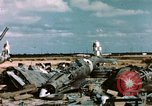 Image of wrecked Italian aircraft Tunis El Aouina Airport, 1943, second 12 stock footage video 65675066351