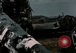 Image of bomb wrecked aircraft Tunis Tunisia, 1943, second 5 stock footage video 65675066358