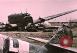 Image of bomb wrecked aircraft Tunis Tunisia, 1943, second 9 stock footage video 65675066363