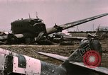 Image of bomb wrecked aircraft Tunis Tunisia, 1943, second 10 stock footage video 65675066363