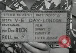 Image of Victory in Europe Day London England United Kingdom, 1945, second 1 stock footage video 65675066460