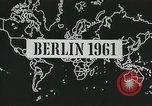 Image of East and West Berlin Germany, 1961, second 4 stock footage video 65675066497