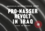 Image of King Faisal II and Nuri as-Said before revolt in Iraq Iraq, 1958, second 3 stock footage video 65675066499