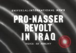Image of King Faisal II and Nuri as-Said before revolt in Iraq Iraq, 1958, second 4 stock footage video 65675066499