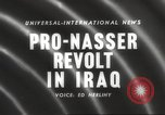 Image of King Faisal II and Nuri as-Said before revolt in Iraq Iraq, 1958, second 5 stock footage video 65675066499