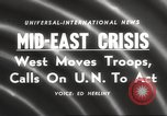 Image of Lebanon Crisis Lebanon, 1958, second 2 stock footage video 65675066506