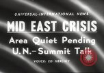 Image of Middle East crisis Middle East, 1958, second 5 stock footage video 65675066516
