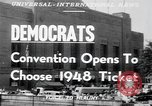 Image of Democratic convention Philadelphia Pennsylvania USA, 1948, second 5 stock footage video 65675066661