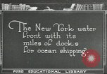 Image of Brooklyn Bridge and Williamsburg Bridge New York City USA, 1918, second 1 stock footage video 65675066758